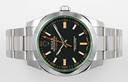 Rolex Oyster Perpetual Milgauss - 116400GB Green Glass Black Dial
