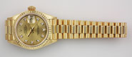 Ladies Rolex Oyster Perpetual DateJust 18K 18ct Diamond Dial 69178