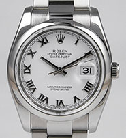 Rolex Oyster Perpetual DateJust 116200 - White Dial
