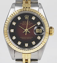 Ladies Rolex Oyster Perpetual DateJust 69173 - Diamond Dial