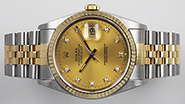Rolex Oyster Perpetual DateJust 16233 - Champgne Diamond Dial