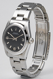 Mid Mid-Size Rolex Oyster Perpetual Black Dial 67480