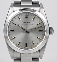 Mid Mid-Size Rolex Oyster Perpetual Silver Dial 67480