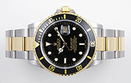 Rolex Oyster Perpetual Submariner 16613 18K/SS Black Dial Black Bezel
