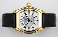 Cartier Roadster 18K Yellow Gold Large Size 2524 - Silver Dial
