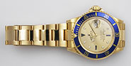 Rolex Oyster Perpetual Submariner 16618 18K Champagne Serti Diamond Dial