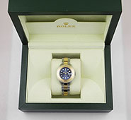 Ladies Rolex Oyster Perpetual Yacht-Master 169623 Dark Blue Dial
