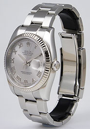 Rolex Oyster Perpetual DateJust 116234 - Black Factory Diamond-Set Dial