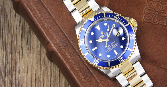 Rolex Oyster Perpetual Submariner 16613 18K/SS Blue Dial Blue Bezel