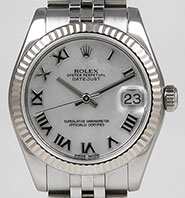 Mid Rolex Oyster Perpetual DateJust 178274 - White Factory MOP Mother-of-Pearl Dial