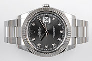 Rolex Oyster Perpetual DateJust II 41mm - 116334 - Factory Rhodium Diamond-Set Dial